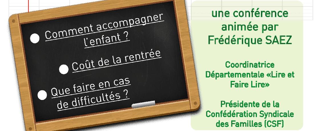Matinale de l'UDAF, La rentrée et l'accompagnement scolaire - Mardi 13 septembre