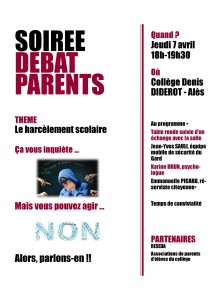 soirée débat parents harcelement